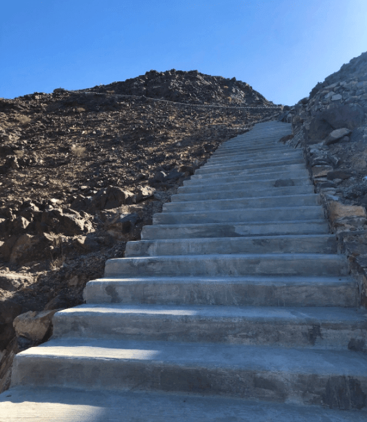 Shawka ruta excursión escaleras wadi vivir dubai