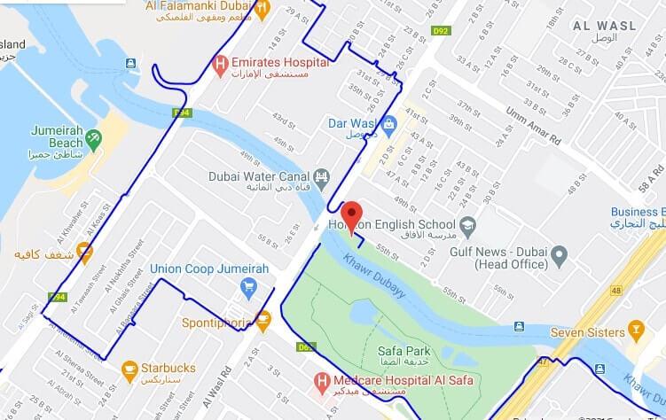Pista del Canal de Dubai