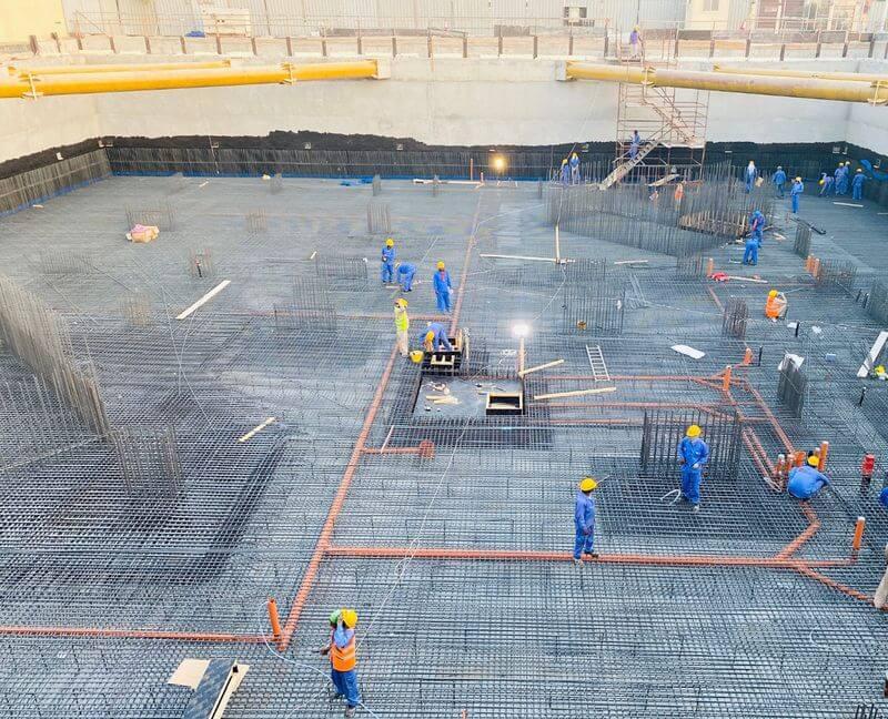 Construcción del templo
